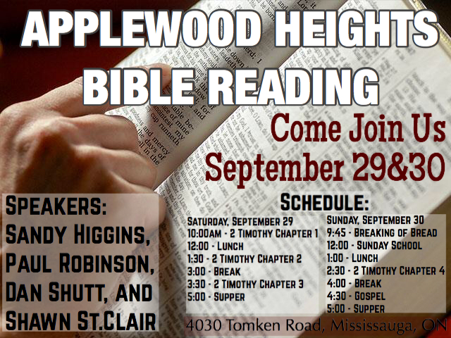 Applewood Bible Reading