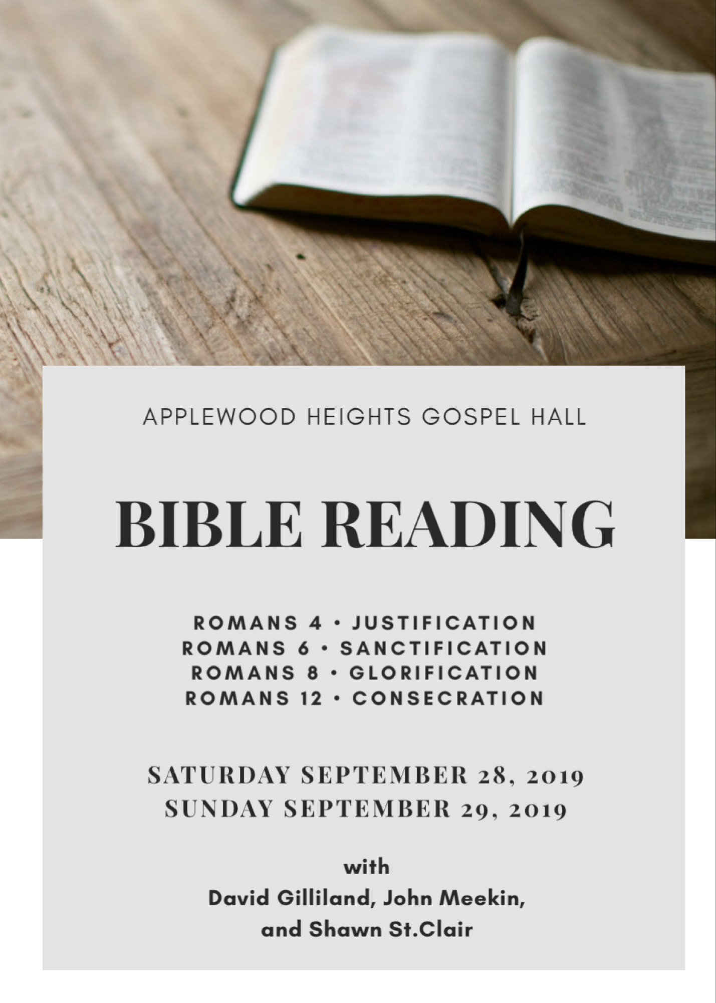 Applewood Bible Readings